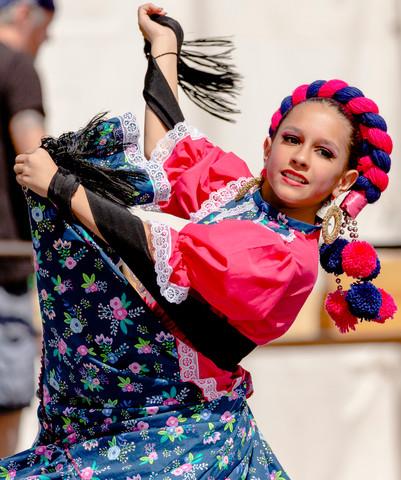 Mexican Dancer at Cinco de Mayo, Denver, Colo., 2019