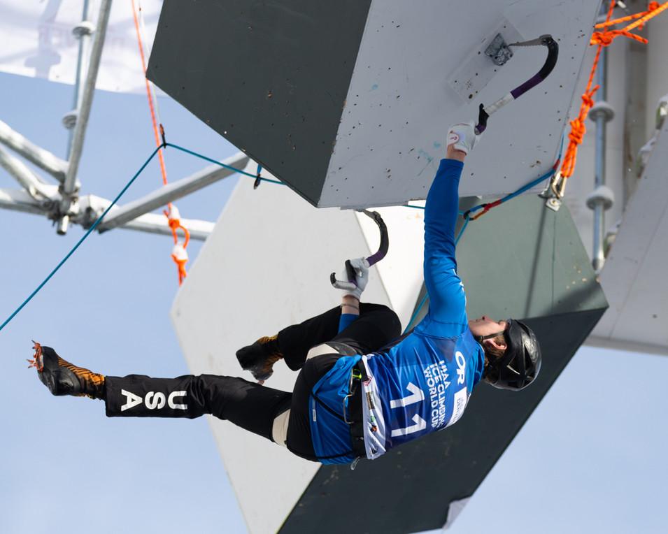 Kevin Lindlau (USA), 2019 UIAA Ice Climbing World Cup, Denver, USA, Feb 23-24, 2019