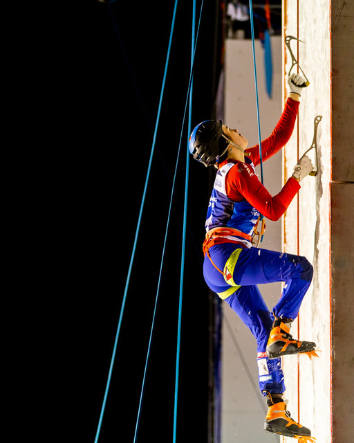 Marion Thomas (FRA), 2019 UIAA Ice Climbing World Cup, Denver, USA, Feb 23-24, 2019, Denver, Colo.