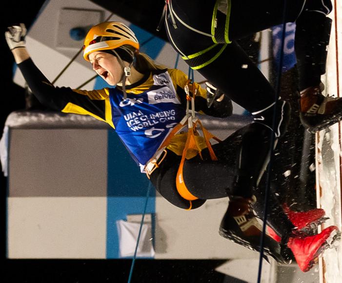 Vivien Labarile (SUI), 2019 UIAA Ice Climbing World Cup, Denver, USA, Feb 23-24, 2019, Denver, Colo.