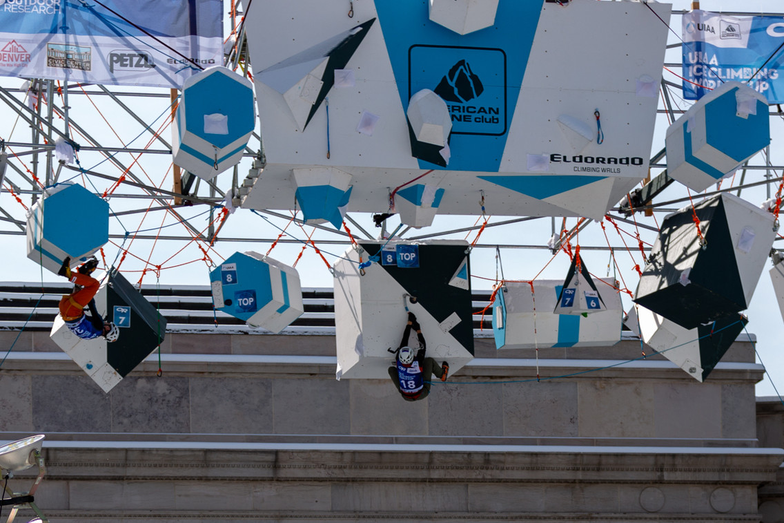 KWON YOUNGHE (KOR), 2019 UIAA Ice Climbing World Cup, Denver, USA, Feb 23-24, 2019, Denver, Colo.