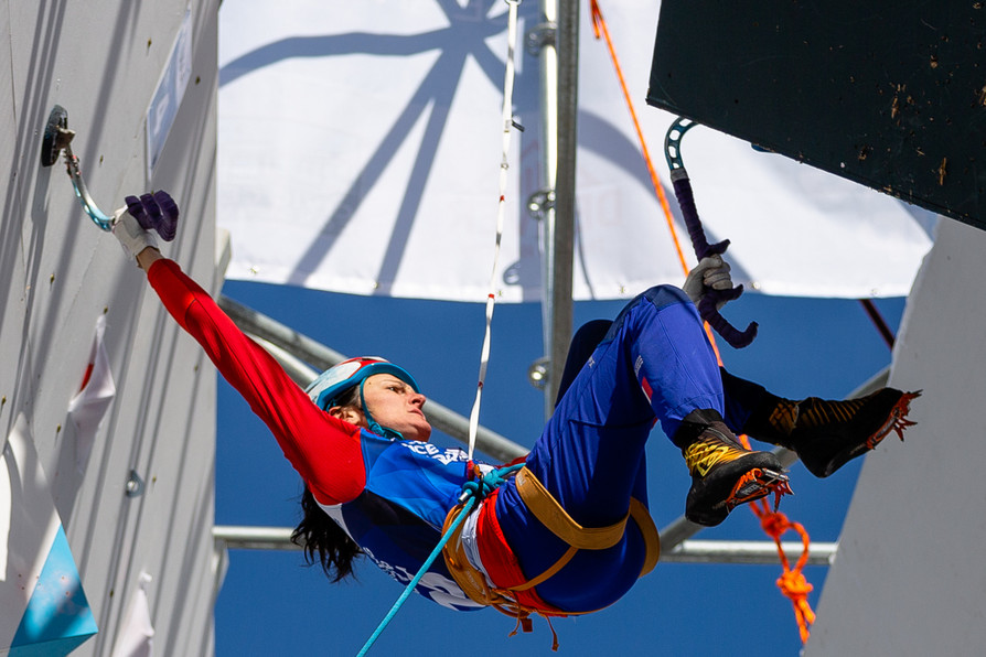 Coralie Jary (FRA), 2019 UIAA Ice Climbing World Cup, Denver, USA, Feb 23-24, 2019, Denver, Colo.