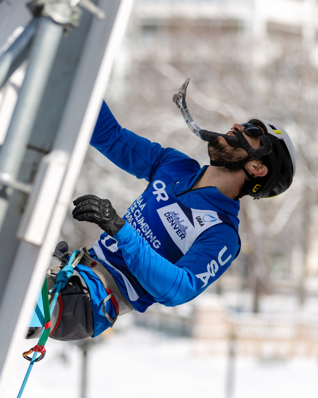 Troy Anger (USA), 2019 UIAA Ice Climbing World Cup, Denver, USA, Feb 23-24, 2019