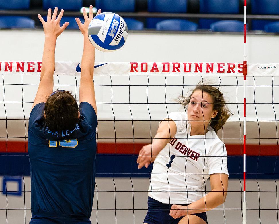 Photos of MSU Denver Volleyball Versus Ft. Lewis College, Auraria Event Center, Denver, Colo. Friday, Sep. 20, 2019