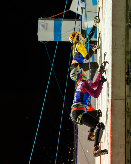 Vivien Labarile (SUI), 2019 UIAA Ice Climbing World Cup, Denver, USA, Feb 23-24, 2019, Denver, Colo.