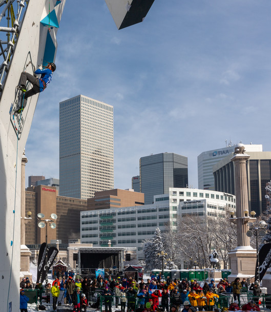 Grant Kleeves (USA), 2019 UIAA Ice Climbing World Cup, Denver, USA, Feb 23-24, 2019