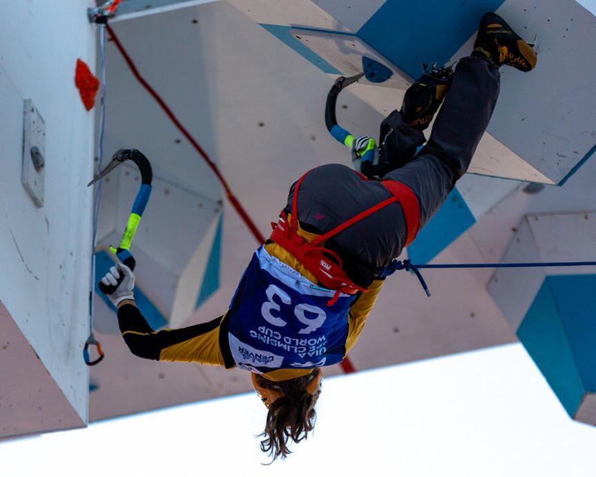 Laura von Allmen (SUI), 2019 UIAA Ice Climbing World Cup, Denver, USA, Feb 23-24, 2019, Denver, Colo.