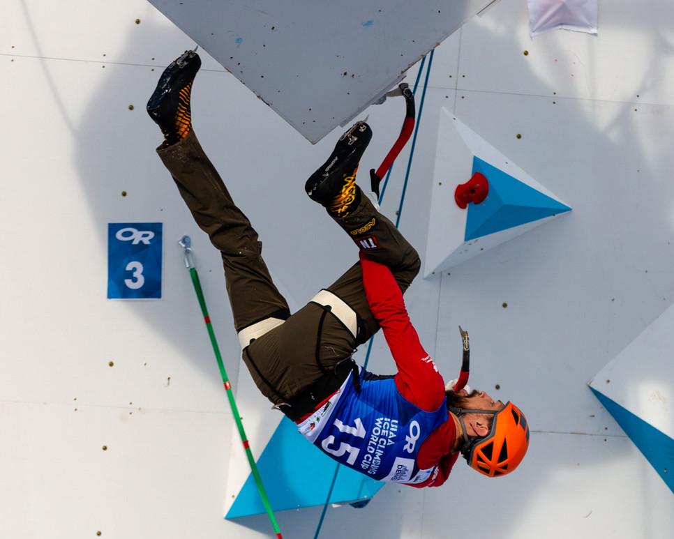 Nathan Kutcher (CAN), 2019 UIAA Ice Climbing World Cup, Denver, USA, Feb 23-24, 2019, Denver, Colo.