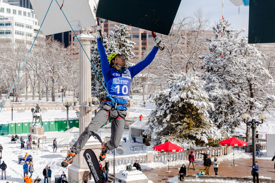 Tyler Kempney (USA), 2019 UIAA Ice Climbing World Cup, Denver, USA, Feb 23-24, 2019