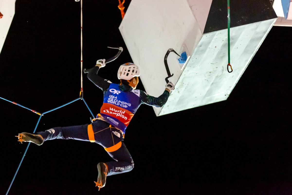 PARK HEEYONG (KOR), 2019 UIAA Ice Climbing World Cup, Denver, USA, Feb 23-24, 2019, Denver, Colo.