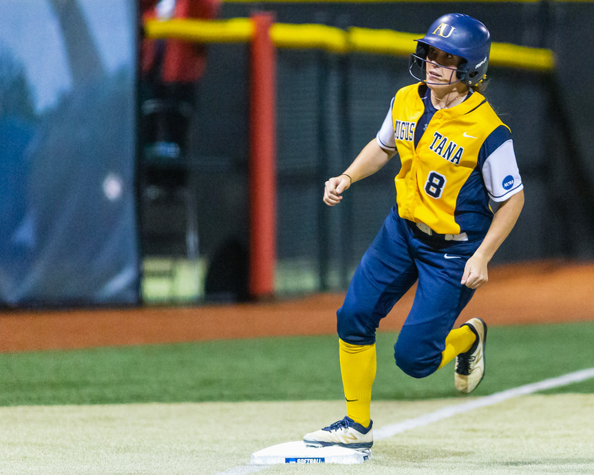 2019 NCAA Division II Softball Championship Finals (Game 1 of 3) between Augustana University and Texas A&M University -- Kingsville.   May 26, 2019, Regency Athletic Center, MSU Denver, Denver, Colo.