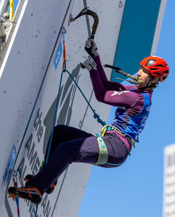 Kendra Stritch (USA), 2019 UIAA Ice Climbing World Cup, Denver, USA, Feb 23-24, 2019