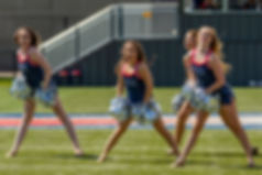 Photograph of MSU Denver Pom Pom Team Performs at break during match between MSU Denver Women's Soccer versus St. Mary's (Texas), Regency Athletic Complex, Saturday, Sept. 7, 2019
