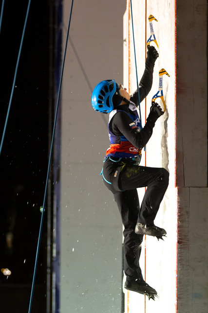 Maria Tolokonina (RUS), 2019 UIAA Ice Climbing World Cup, Denver, USA, Feb 23-24, 2019, Denver, Colo.
