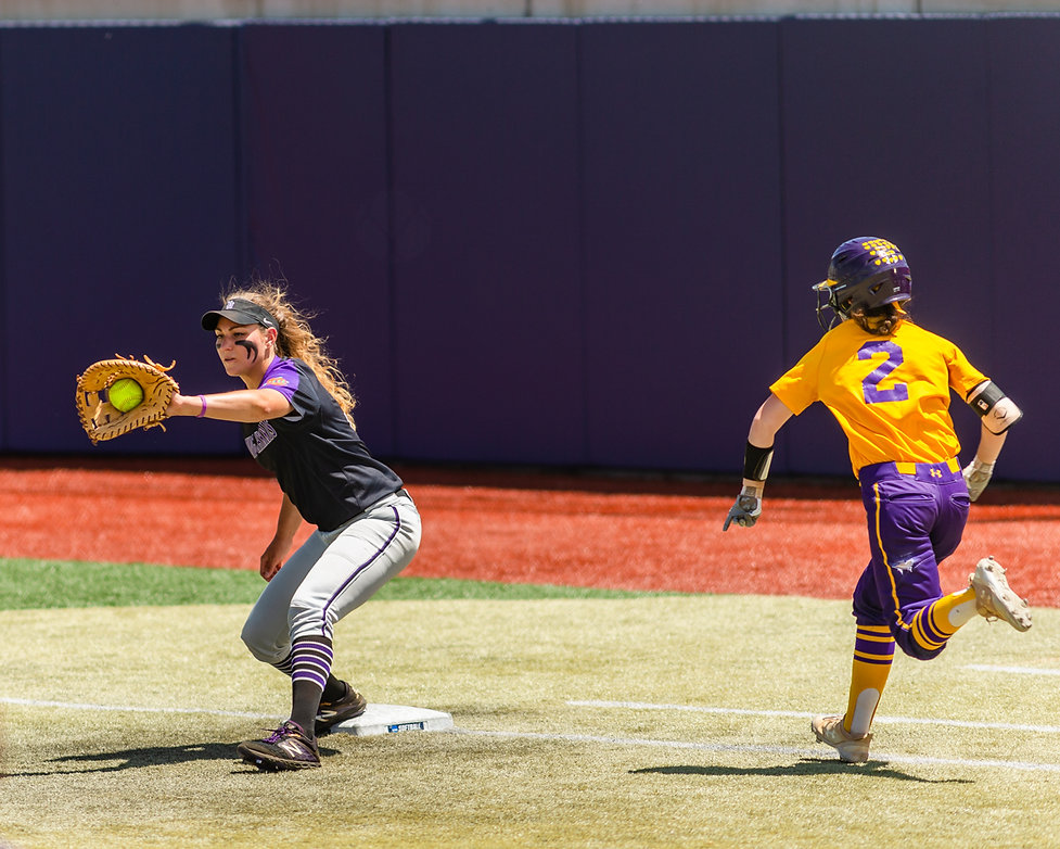 Photos of Haylie Shope taken during the 2019 NCAA Division II Softball Championship, Regency Athletic Center, MSU Denver University, Denver, Colo., May 23-25, 2019.  Photos by Darral Freund