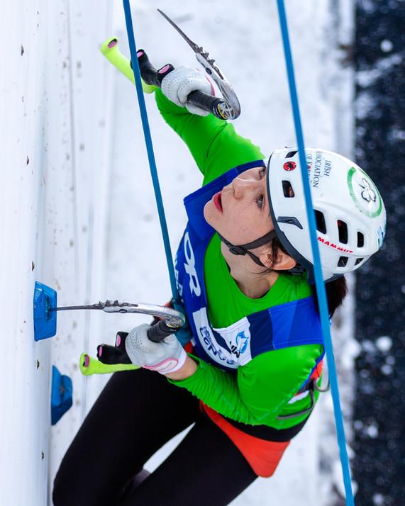 Eimir McSwiggan  (IRL), 2019 UIAA Ice Climbing World Cup, Denver, USA, Feb 23-24, 2019, Denver, Colo.
