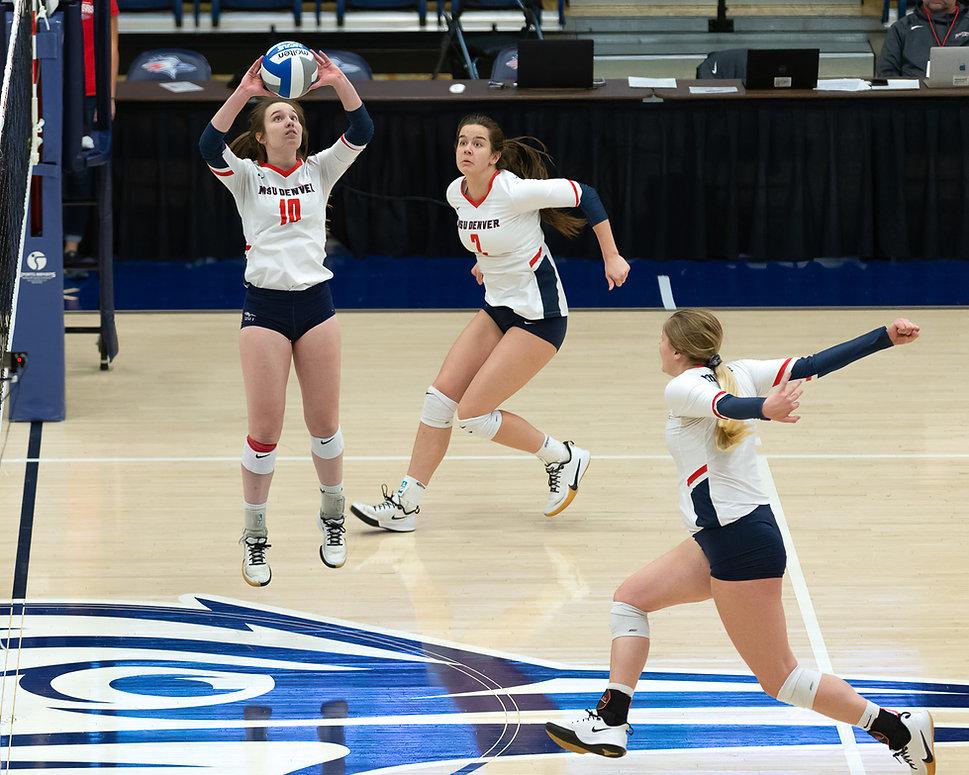 MSU Denver Volleyball vs Black Hills State in RMAC Quarterfinals