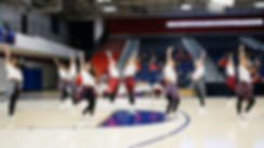 MSU Denver Pom Pom Team Performs at break during match between MSU Denver Women's Volleyball versus Dixie State, Auraria Event Center, Friday, Oct. 18, 2019
