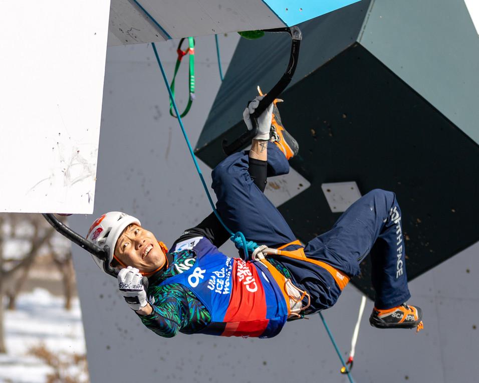 PARK HEEYONG (KOR), 2019 UIAA Ice Climbing World Cup, Denver, USA, Feb 23-24, 2019, Denver, Colo.
