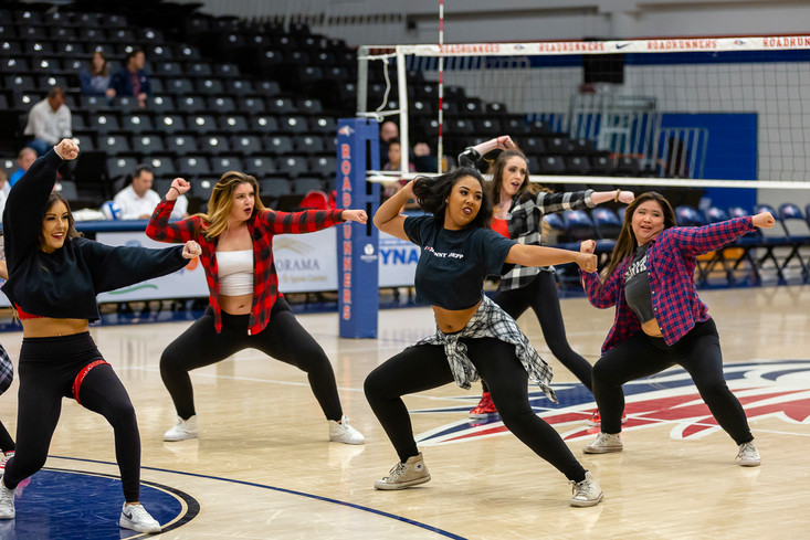 MSU Pom Poms Perform During Game Break
