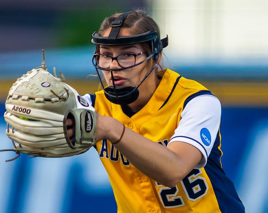 Ashley Mickschl, Augustana Softball Pitcher, 2019 NCAA D2 Softball Championship