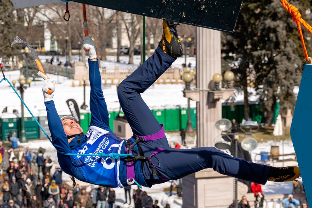 Enni Bertling a (FIN), 2019 UIAA Ice Climbing World Cup, Denver, USA, Feb 23-24, 2019, Denver, Colo.