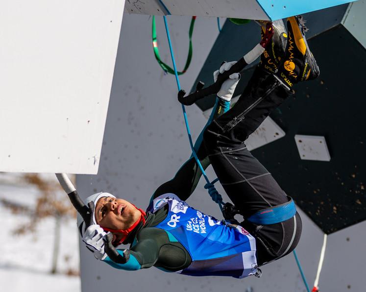 Gihado Kadota (JPN), 2019 UIAA Ice Climbing World Cup, Denver, USA, Feb 23-24, 2019, Denver, Colo.