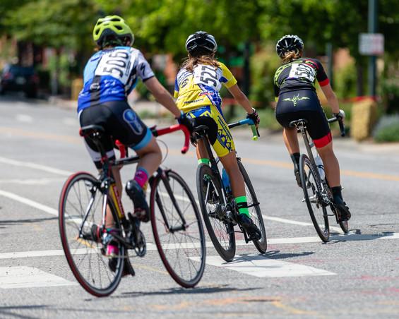 Bannock Street Criterium 2018 Junior Women's 11-12 and 13-14 Combined Event