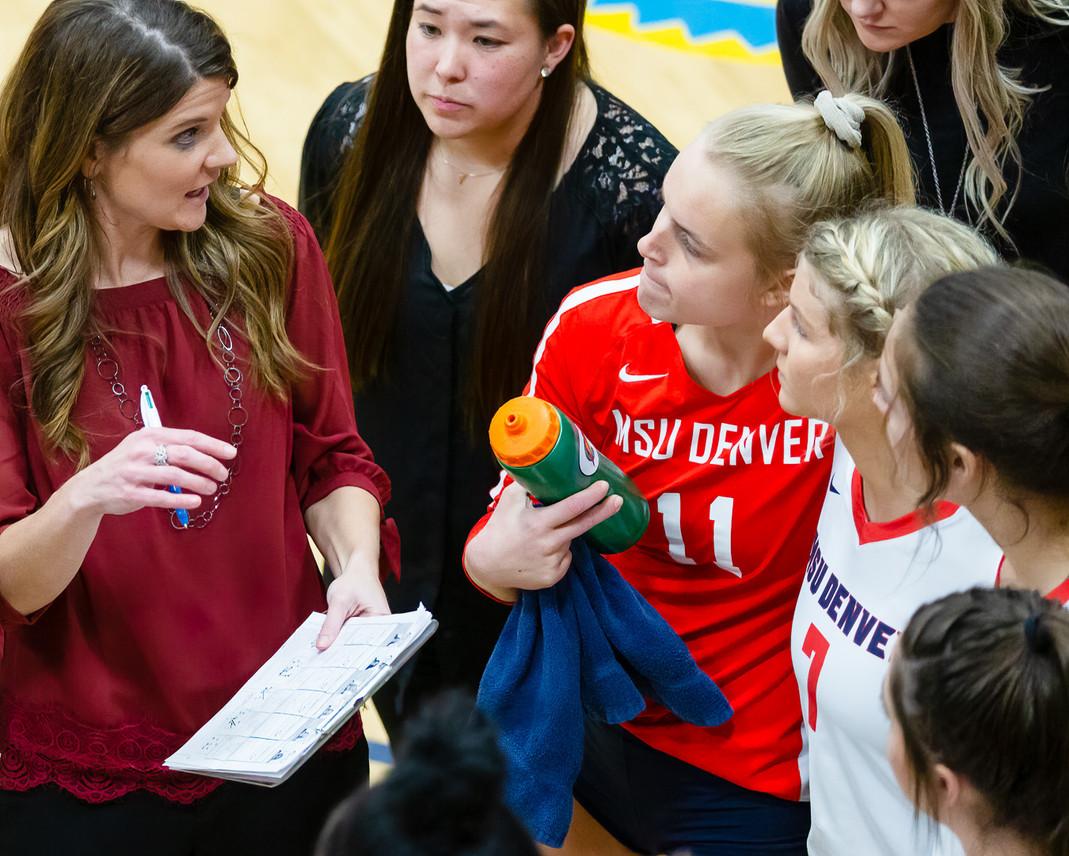 MSU Denver Volleyball Versus Dixie State in RMAC Semifinals
