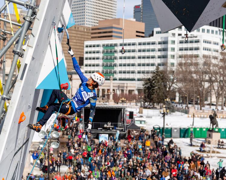SONG OK DO (KOR), 2019 UIAA Ice Climbing World Cup, Denver, USA, Feb 23-24, 2019, Denver, Colo.