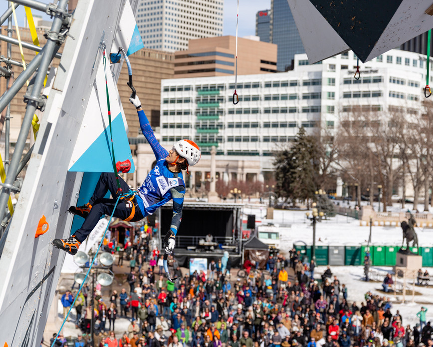 SONG OK DO (KOR), 2019 UIAA Ice Climbing World Cup, Denver, USA, Feb 23-24, 2019, Denver, Colo.