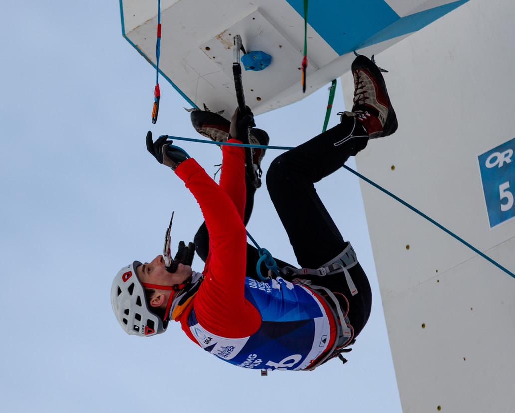 Jan Mondzelewski (POL), 2019 UIAA Ice Climbing World Cup, Denver, USA, Feb 23-24, 2019, Denver, Colo.