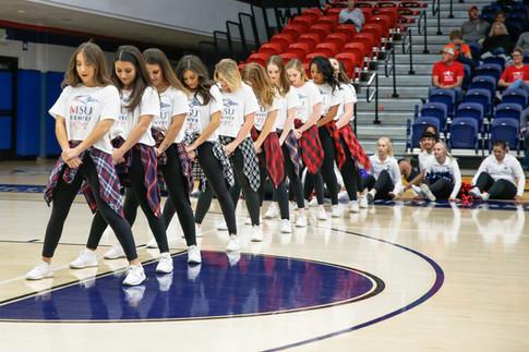 MSU Denver Pom Poms performing on Oct. 18. 2019
