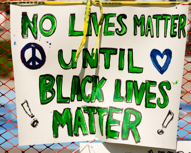 Black Lives Matter Sign in front of Denver City and County Building