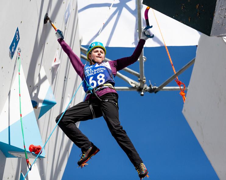Mikayla Tougas (USA), 2019 UIAA Ice Climbing World Cup, Denver, USA, Feb 23-24, 2019