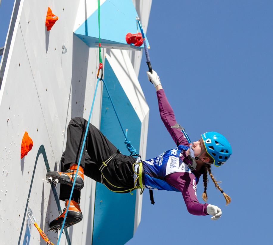 Shirley Catalina (USA), 2019 UIAA Ice Climbing World Cup, Denver, USA, Feb 23-24, 2019