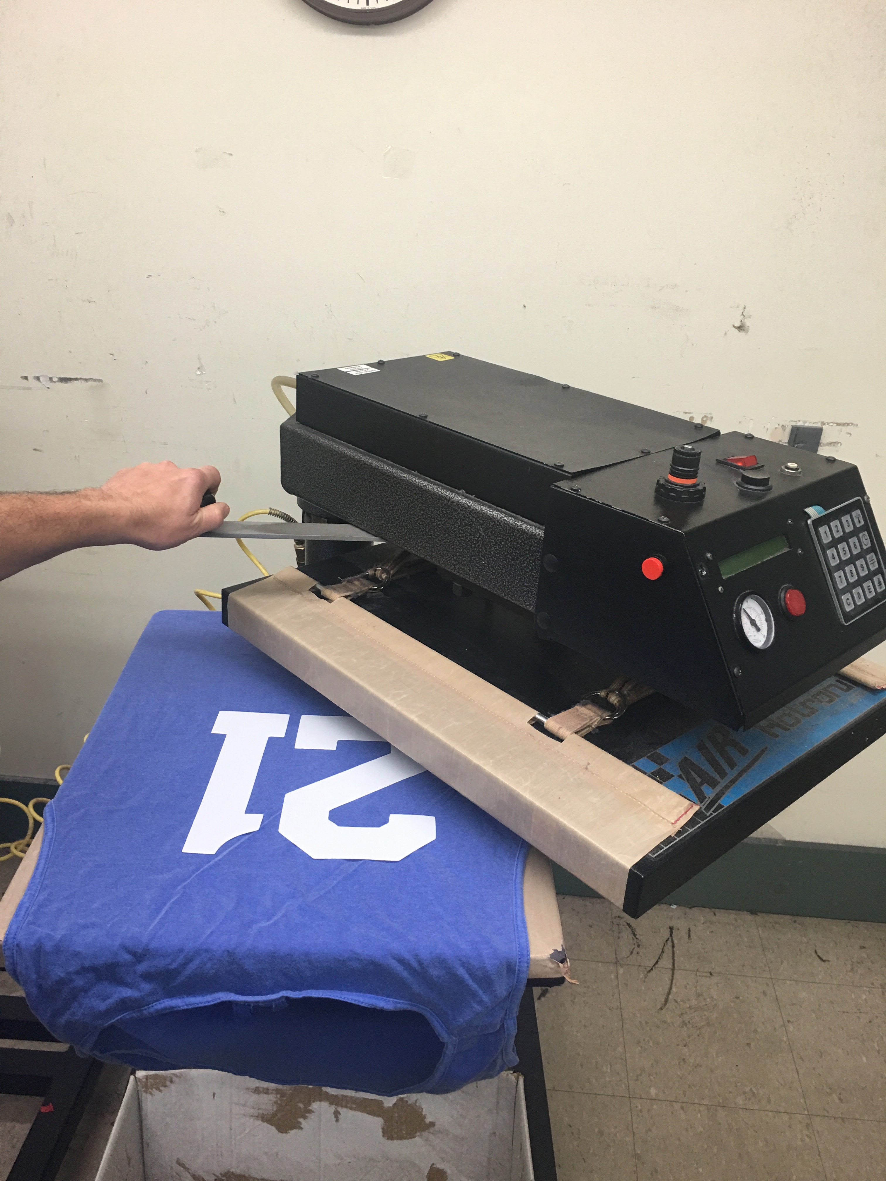 Heat Press Names and Numbers