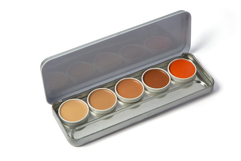 Bharat & Dorris Pro HD Cream Foundation Pallete 1X5
