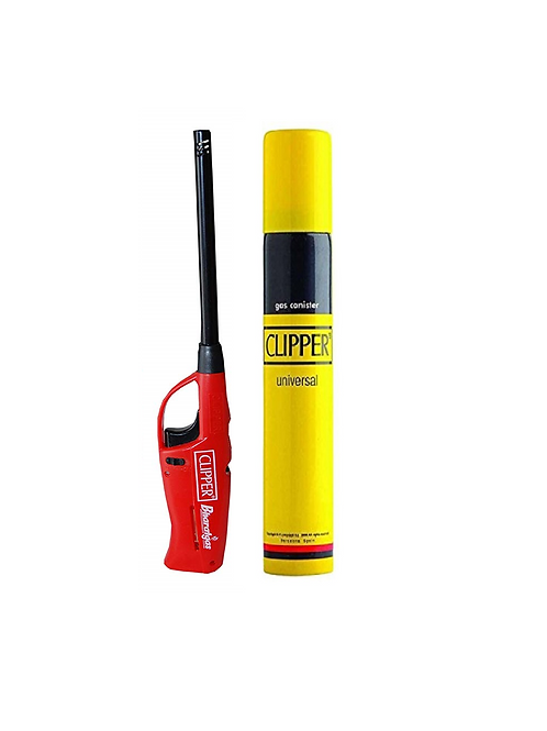 Clipper Neo Flama Gas Lighter and 100ml Refiller Gas Can Combo