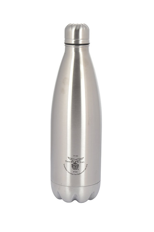 EAGLE Primo Stainless Steel Water Bottle, 1L, Set of 1, Silver