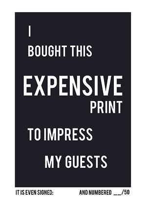 Expensive print