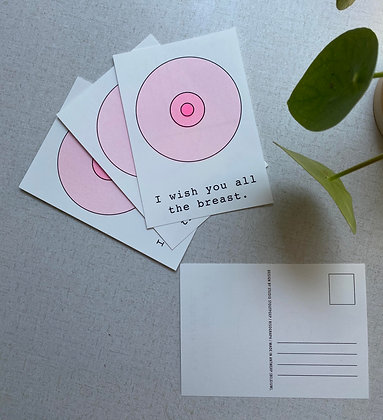 All the breast (5 cards + 1 sticker)