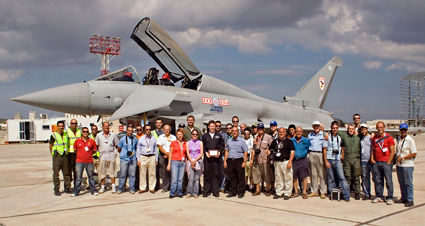 MAS Members With a Typhoon
