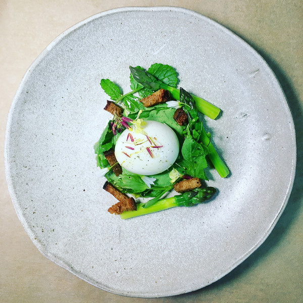 Oeuf mollet - Asperge - Herbes sauvages