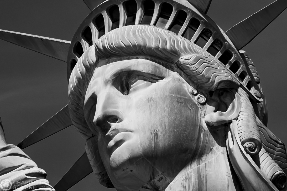 Statue of Liberty close up face