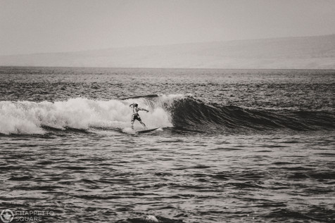 Surfer in Hawaii Black and White