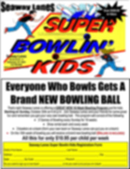 Seaway Lanes Super Bowlin Kids for Octob