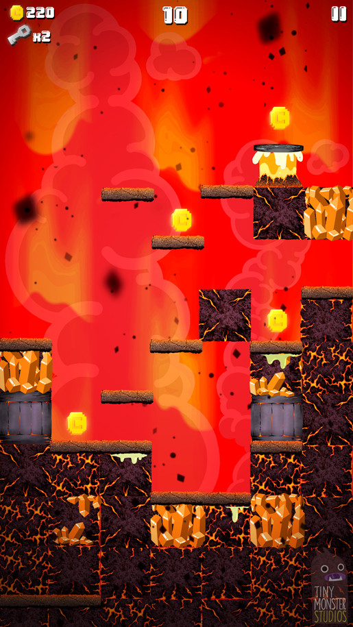 Super Slime Blitz: Lava Background