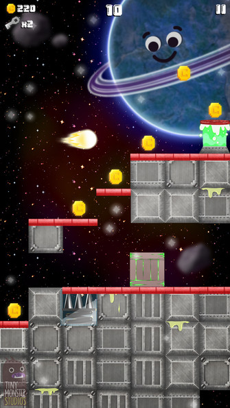 Super Slime Blitz: Space Background