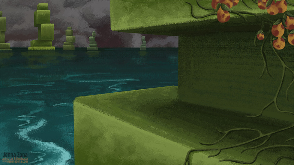 Tethered: Background Painting